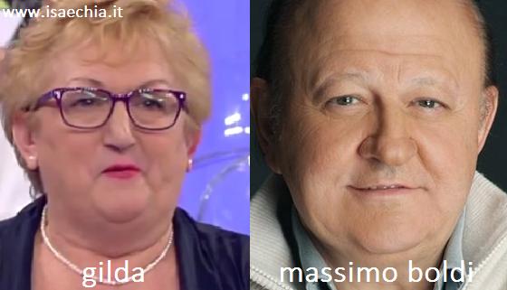 Somiglianza tra Gilda e Massimo Boldi