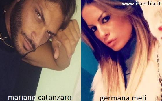 Somiglianza tra Mariano Catanzaro e Germana Meli
