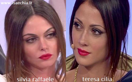Somiglianza tra Silvia Raffaele e Teresa Cilia