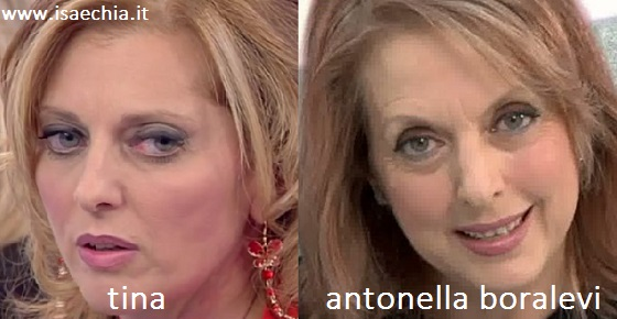 Somiglianza tra Tina e Antonella Boralevi