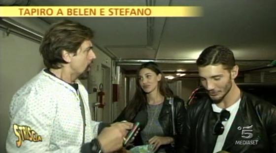 Striscia la notizia - Valerio Staffelli, Belen Rodriguez e Stefano De Martino