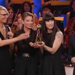 Maria De Filippi, Emma, Elisa e Giuliano Peparini