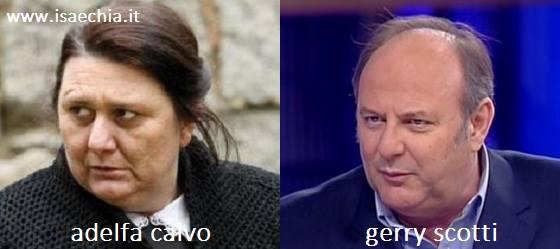 Somiglianza tra Adelfa Calvo e Gerry Scotti