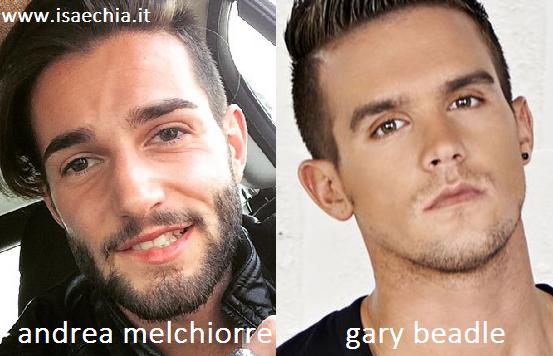 Somiglianza tra Andrea Melchiorre e Gary Beadle