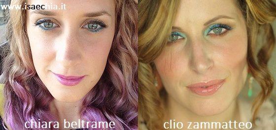 Somiglianza tra Chiara Beltrame e Clio Zammatteo
