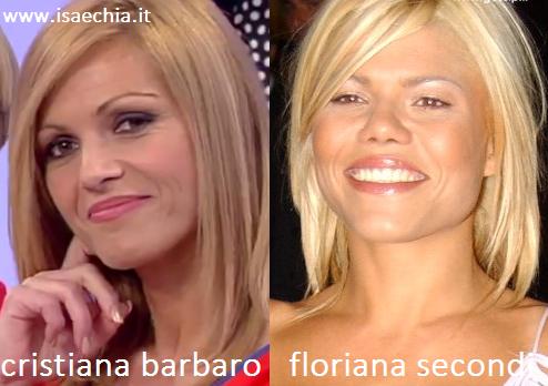 Somiglianza tra Cristiana Barbaro e Floriana Secondi