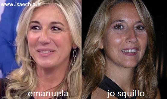 Somiglianza tra Emanuela e Jo Squillo