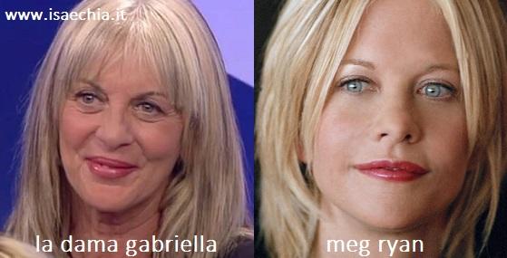 Somiglianza tra Gabriella e Meg Ryan