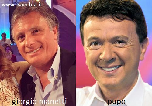 Somiglianza tra Giorgio Manetti e Pupo