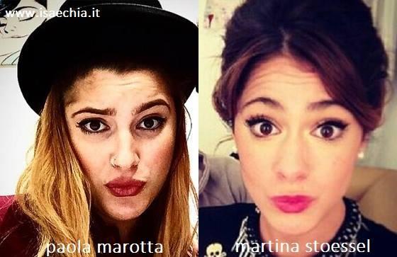 Somiglianza tra Paola Marotta e Martina Stoessel