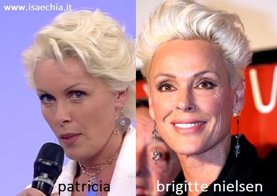 Somiglianza tra Patricia e Brigitte Nielsen