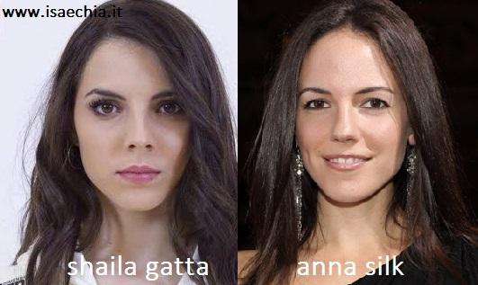 Somiglianza tra Shaila Gatta e Anna Silk
