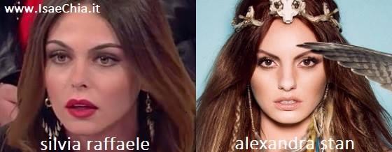 Somiglianza tra Silvia Raffaele e Alexandra Stan