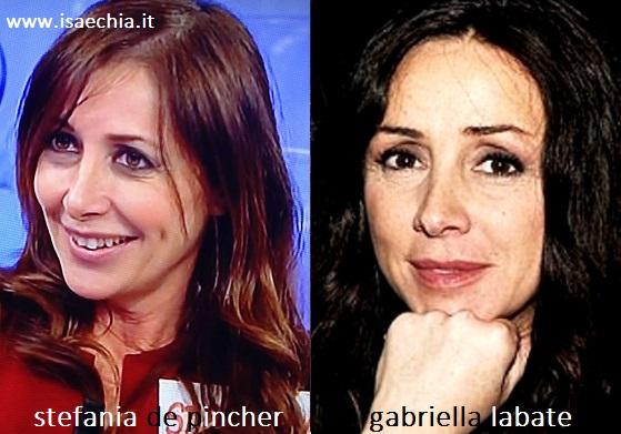 Somiglianza tra Stefania De Pincher e Gabriella Labate