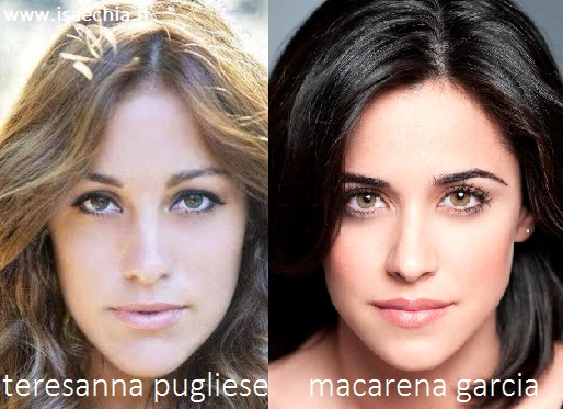 Somiglianza tra Teresanna Pugliese e Macarena Garcia