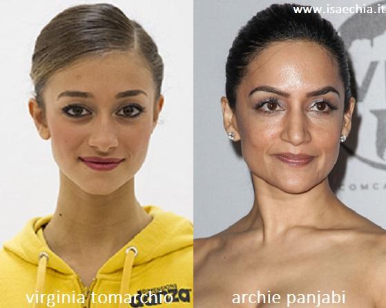 Somiglianza tra Virginia Tomarchio e Archie Panjabi