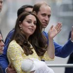 William, Kate e Charlotte Windsor