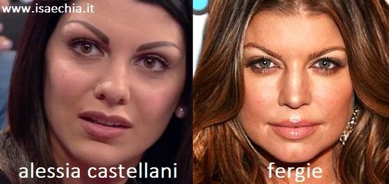 Somiglianza tra Alessia Castellani e Fergie