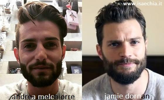 Somiglianza tra Andrea Melchiorre e Jamie Dornan
