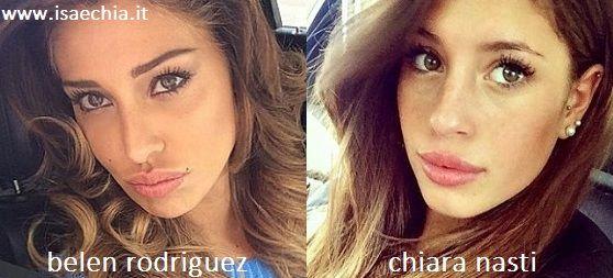 Somiglianza tra Belen Rodriguez e Chiara Nasti