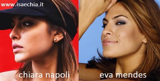 Somiglianza tra Chiara Napoli ed Eva Mendes