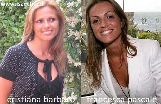 Somiglianza tra Cristiana Barbaro e Francesca Pascale