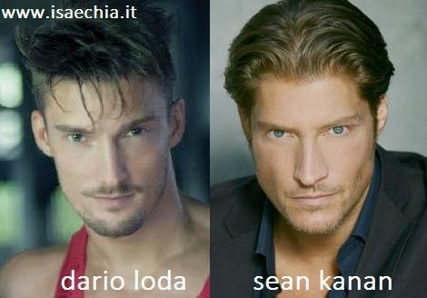 Somiglianza tra Dario Loda e Sean Kanan