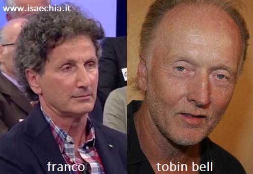 Somiglianza tra Franco e Tobin Bell