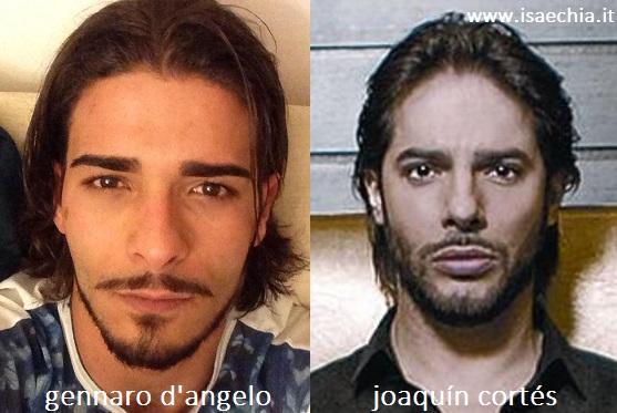Somiglianza tra Gennaro D'Angelo e Joaquín Cortés