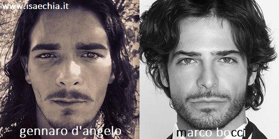 Somiglianza tra Gennaro D'Angelo e Marco Bocci