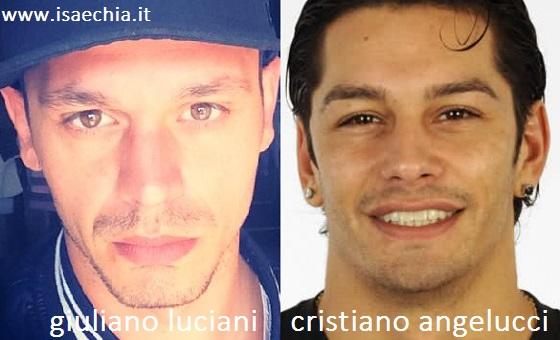 Somiglianza tra Giuliano Luciani e Cristiano Angelucci