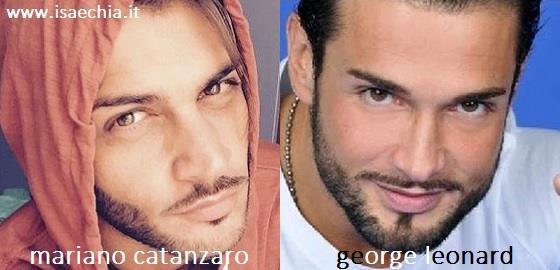 Somiglianza tra Mariano Catanzaro e George Leonard