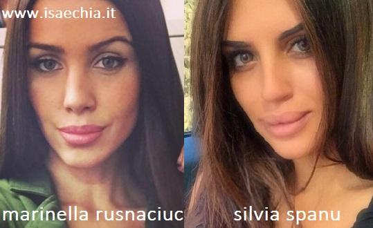 Somiglianza tra Marinella Rusnaciuc e Silvia Spanu