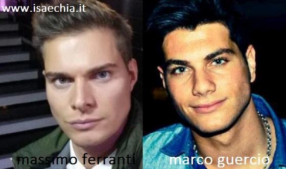 Somiglianza tra Massimo Ferranti e Marco Guercio