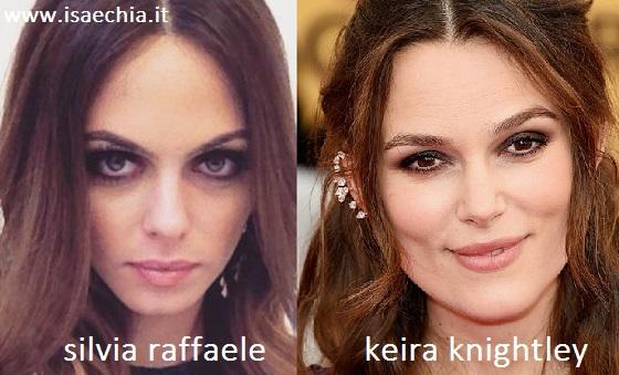 Somiglianza tra Silvia Raffaele e Keira Knightley