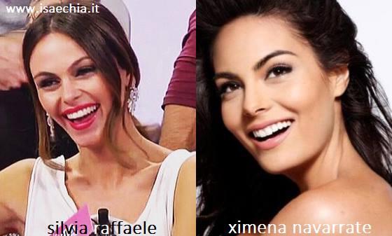 Somiglianza tra Silvia Raffaele e Ximena Navarrete
