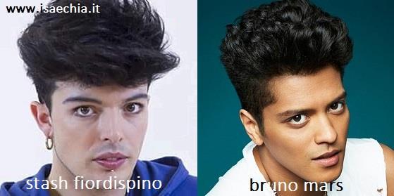 Somiglianza tra Stash Fiordispino e Bruno Mars