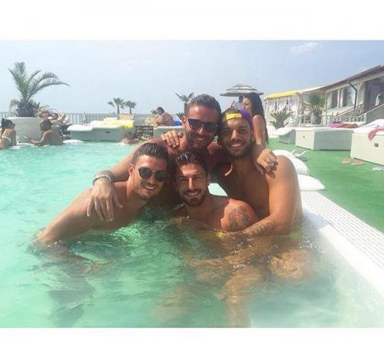 Gianmarco Valenza, Amedeo Andreozzi, Dario Loda ed Emanuele D'Avanzo