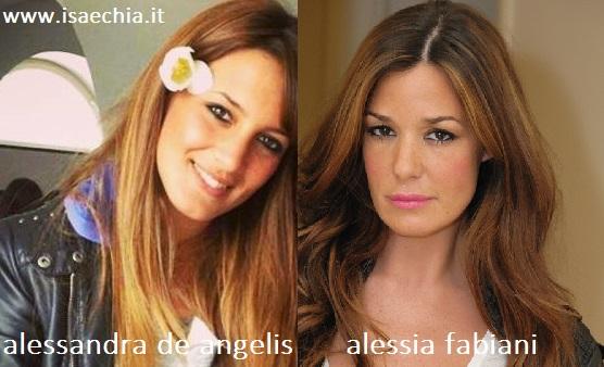 Somiglianza tra Alessandra De Angelis e Alessia Fabiani