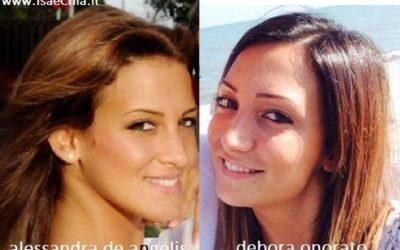 Somiglianza tra Alessandra De Angelis e Debora Onorato