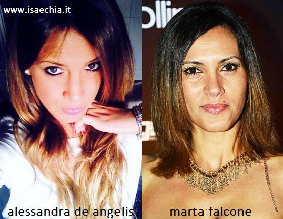 Somiglianza tra Alessandra De Angelis e Marta Falcone