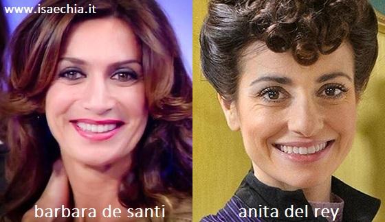 Somiglianza tra Barbara De Santi e Anita Del Rey