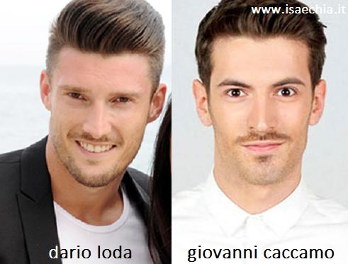 Somiglianza tra Dario Loda e Giovanni Caccamo