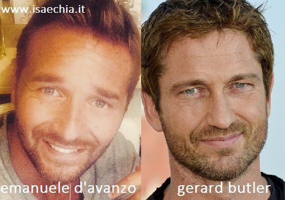 Somiglianza tra Emanuele D'Avanzo e Gerard Butler