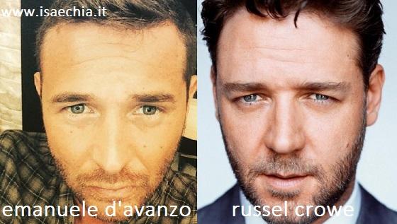 Somiglianza tra Emanuele D'Avanzo e Russel Crowe