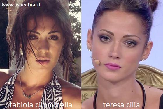 Somiglianza tra Fabiola Cimminella e Teresa Cilia