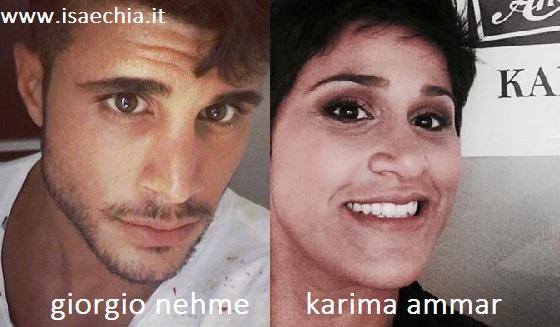 Somiglianza tra Giorgio Nehme e Karima Ammar