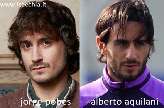Somiglianza tra Jorge Pobes e Alberto Aquilani