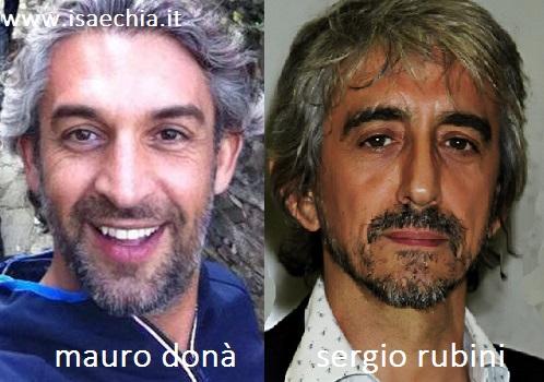 Somiglianza tra Mauro Donà e Sergio Rubini