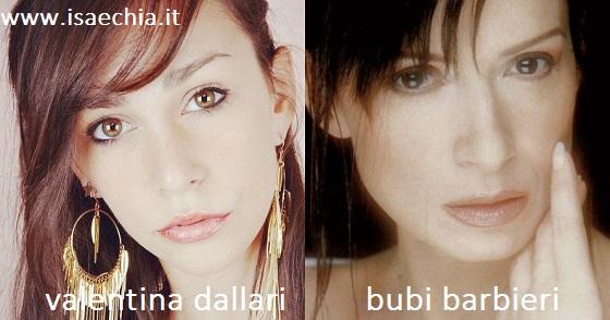 Somiglianza tra Valentina Dallari e Barbara Bubi Barbieri